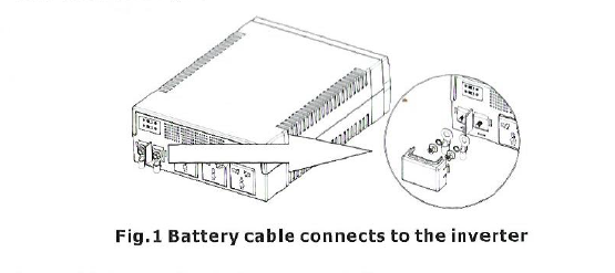 Mercury Inverter Battery Cable Connect