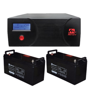 The Mercury Bachelor's Complete Inverter System 2.4kva 2X 100ah Batteries
