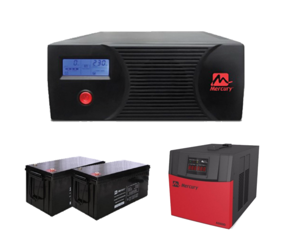 Mercury 2.4kva-Complete Inverter System 2x 200ah Batteries with 5kva AVR
